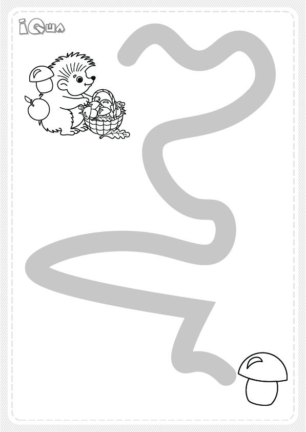 лабиринт рисунок для детей