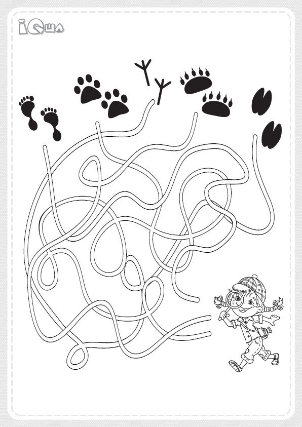 лабиринт детский для 5 6